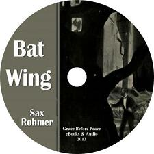 Bat Wing, Sax Rohmer Vampire Audiobook Unabridged Fiction English on 1 MP3 CD