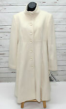 Still New MARVIN RICHARDS Wool Cashmere IVORY WOMEN'S Long WINTER COAT SIZE 10