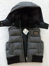 NWT DOLCE GABBANA INFANT BABY BOYS VEST JACKET SWEATER PLAID BLACK GRAY 3-6 MON