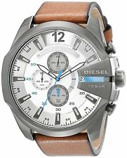 Diesel Men's DZ4280 'Mega Chief' Chronograph Brown Leather Watch