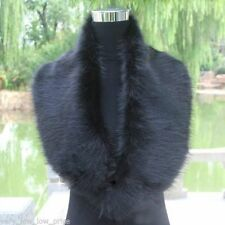 Long Winter Faux Fur Neck Shawls Scarf Stole Collar Wrap Warmer - Color Black