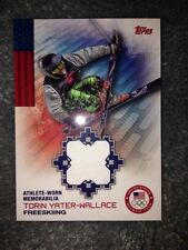 2014 Topps Olympic Hopefuls Relic Card Torin Yater-Wallace