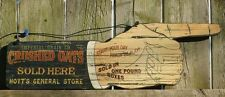 Crushed Oats Sold Here Wood Sign General Store Country Vintage Style Kitchen