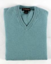 BROOKS BROTHERS 100% 3 Ply ITALIAN CASHMERE Sweater SCOTLAND - Blue / Green - M