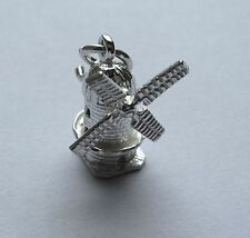 Argent Sterling Mobile Moulin À Vent Charm