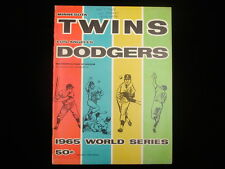 1965 World Series 2nd Game Program – Los Angeles Dodgers @ Minnesota Twins