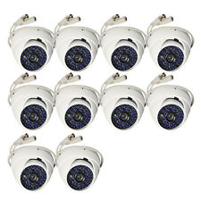 10PCS SONY CCD CCTV 700TVL COLOR WATERPROOF DOME OUTDOOR CAMERA LOT 3.6mm lens