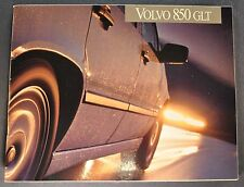1993 Volvo 850 GLT 32pg Catalog Sales Brochure Excellent Original 93