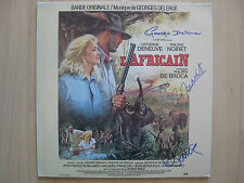 "L´Africain ""Georges Delerue"" Autogramme signed LP-Cover ""Soundtrack"" Vinyl"