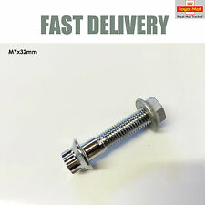 1x M7 Chrome Split Rim Bolt with Nut for BBS RS RM Wheels NEW
