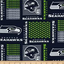 NFL SEATTLE SEAHAWKS PATCH 100% COTTON FABRIC BY THE 1/4  YARD