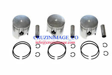 Suzuki GT750 Pistons Set 70.50mm 0.5mm Oversize Rings Pin Clips  10-GT750PS-1