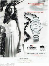 PUBLICITE ADVERTISING 116  2013  la montre Tissot  Luxury  diamant auto lady