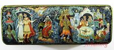 "Russian Lacquer box Palekh ""Russian fairy tales""  Decoupage №108"