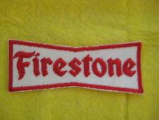 "Vintage Firestone Tires  Racing Division Patch  4 3/8  "" X  1 3/4 """