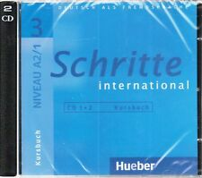 Hueber SCHRITTE INTERNATIONAL 3 Audio CDs zum Kursbuch Niveau A2/1 @NEW & SEALED