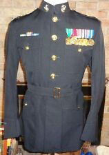 USMC OFFICERS US MARINE CORPS UNIFORM DRESS BLUES JACKET SIZE 48 LONG Medals
