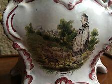 Bouquetière murale pique fleur GUGGISBERG Faience a identifier Ancienne