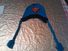 Superman Peruvian Intarsia Winter Hat