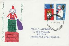 1966 GB Christmas Stamp Commemorative Cover Newcastle PMK Ref MT86