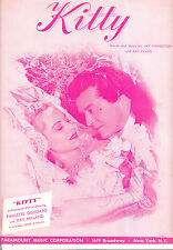 KITTY Sheet Music Paulette Goddard AUTOGRAPHED by Ray Milland