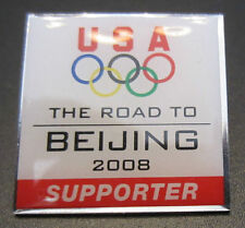 Road To Beijing 2008 Supporter Pin Badge Olympic