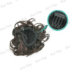 Synthetic Fiber Hairpiece Magic Hair Bun Multi-color Clip in/on wig Extension
