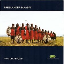 Land Rover Freelander Maasai Limited Edition 2003 UK Market Leaflet Brochure