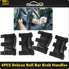 4pcs Roll Bar Grab Handles 4WD Off Road Accessories For Jeep Wrangler JK 4DOOR