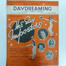 """song sheet DAYDREAMING (all night long) """"the gay impostors"""" 1938"""