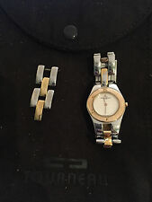 Preowned !Baume Mercier Stainless Steel 18k Yellow Gold 22mm Diameter!!! FRIBAN