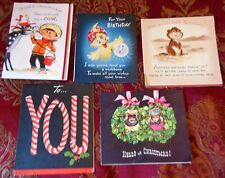 5 Novelity Vintage Artistic Pul Out Pop Up Greeting Cards 2 Christmas 3 Birthday