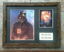 James Earl Jones Signature Star Wars Darth Vader Framed Photo and Postcard