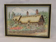 """Anne Hathaway's Cottage England by D. Stuart 1975 6""""x8 1/2"""" Frame . Shakespeare"""