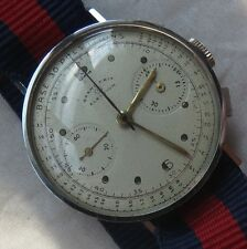 Election chronograph mens wristwatch steel case load manual cal. Valjoux 22