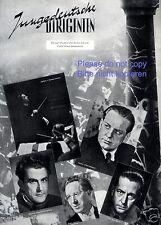 Junge deutsche Dirigenten Seite mit Fotoabbildungen von 1941 Karajan Jochum Zaun