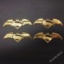4pcs Metal Batman Vs Superman Dawn of Justice Emblem Badge Sticker Toyota Honda