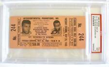 """1965 ALI vs LISTON 1st Rd KO FULL """"Phantom Punch"""" $50 Beige TICKET In PSA 9 MINT"""