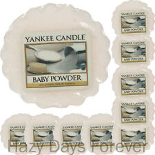 10 SCENTED YANKEE CANDLE WAX TARTS Baby Powder FREE P&P fresh talc scent