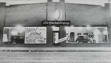"12 By 18"" Black & White Picture 1932 Ford - New Car Dealer Showroom with B-400"