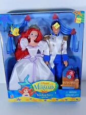 NIB  DOLL 1997 DISNEY THE LITTLE MERMAID ARIEL ERIC WEDDING PARTY SET