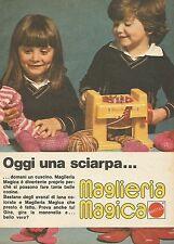 X7519 Oggi una sciarpa - Maglieria Magica Mattel - Pubblicità 1977 - Vintage Ad