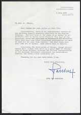 Otto von Habsburg Archduke of Austria Signed Letter 1982 German Unification