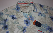 Tommy Bahama Camp Floral Fireworks Continetal 100% Silk Large L T313769