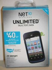 New! Net10 Wireless ZTE Midnight Z768G Cellular Smartphone