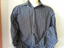 Ben Sherman black and gray stripe long sleeve button down shirt - mens large 16
