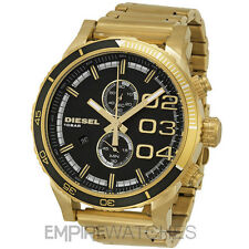 *NEW* DIESEL MENS DOUBLE DOWN CHRONOGRAPH GOLD WATCH - DZ4337 - RRP £229.00