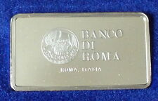 Silver Ingot Mint Condition 40 grms Minted by John Pinches Bank Roma Italy