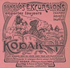 Z9687 KODAK appareil photographique -  Pubblicità d'epoca - 1911 Old advertising