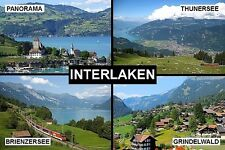 SOUVENIR FRIDGE MAGNET of INTERLAKEN SWITZERLAND
